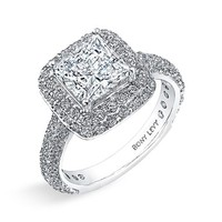 Women's Bony Levy Multi-Row Micro Pave Diamond Engagement Ring Setting - White Gold (Nordstrom Exclusive)