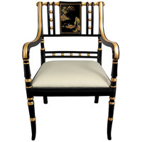 Regency White Chair Oriental Unlimited Side Chairs Dining Chairs Kitchen & Dining Furnitur