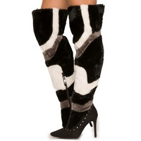 Women's Tiarra-16 Knee High Fur Boot
