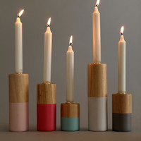 Dip-Dye Candlestick Holder - Set Of 5 - Urban Outfitters