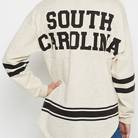 South Carolina Marled Drop Yoke Top
