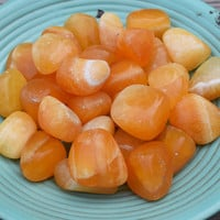 ORANGE CALCITE Positive Energy Stone - Depression & Anxiety Relief, Ease Mind, Balance Emotions