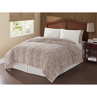 Pem America CF8237TNQN-1400 Carved Mink Tan Queen Comforter
