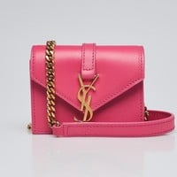 Yves Saint Laurent Pink Leather Candy Bag