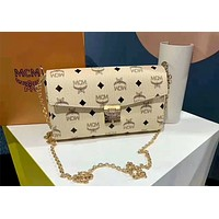 MCM new classic print logo envelope chain clutch bag shoulder bag