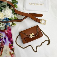 GIVENCHY WOMEN'S LEATHER GV3 WAIST PACK HANDBAG INCLINED SHOULDER BAG