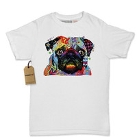 Women's Rainbow Pup Pup Shirt Printed Abstract Psychedelic Dog Graphic T-Shirt #1216 by Expression Tees Trending Clothing Apparel USA Seller