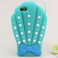 Mermaid SHELL PHONE 3D Case For iPhone 5 5s, 6, 6 Plus