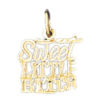 14K GOLD SAYING CHARM - SWEET LITTLE BITCH #10647