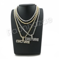 "BUBBLE CULTURE BUBBLE PENDANT W/ 24"" ROPE /18"" TENNIS CHAIN SC003"