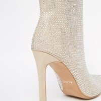ALDO Nyderrarien Glitter Nude Heeled Ankle Boots