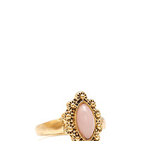 FOREVER 21 Monarch Faux Stone Ring Light Pink/Antic.G