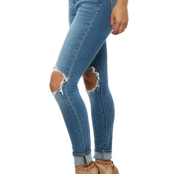 Levi's 721 High Rise Skinny- Rugged