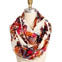 Floral Dressy Infinity Scarf