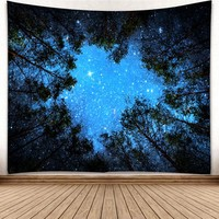 Blue sky Tapestry landscape Printed Wall Hanging Black and white lion elk tapestry Yoga Scarf Mat Wall Decoration Beach Mat