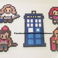 Magnet Set - Doctor Who Inspired Series 6 Special Perler Art