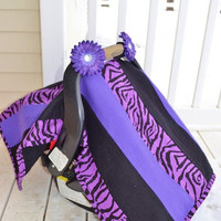 CAR SEAT COVER Zebra Baby Nursing Quilt Ready by avisiontoremember