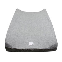 Burt's Bees Baby Organic Knit Terry Changing Pad Cover, Heather Grey