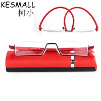 Fashion Reading Glasses with case Women Men Super Light Eyeglasses TR90 Female Reader Glasses Red Black Oculos de Grau YJ854