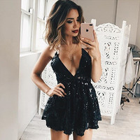 Sexy Lace Skirt Club One Piece Dress [11179055823]