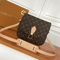 LV Louis Vuitton MONOGRAM CANVAS SAINT CLOUD INCLINED SHOULDER BAG