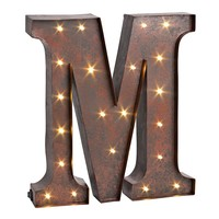 ''m'' LED Letter Wall Decor (Brown)