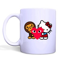 BAPE X HELLO KITTY Mug