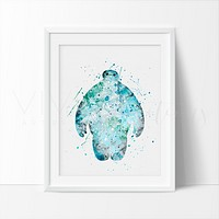 Baymax 2 Watercolor Art Print