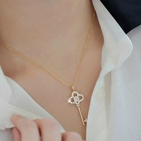 Key to My Heart Fashion Necklace (Gold)