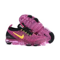 Nike Air VaporMax 2019 Flyknit 3.0 Pink Black Yelllow