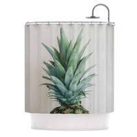 "Chelsea Victoria "" The Pineapple"" Green Gold Shower Curtain - Outlet Item"