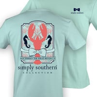 Simply Southern Lobster Tee - Mint Green