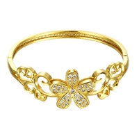 est Austrian Crystal bangles Large flower phase Women Wedding Bracelet horloge HBZ  9