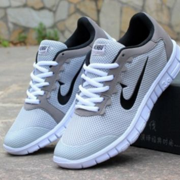 Women Men Running Sport Casual Shoes Sneakers Grey