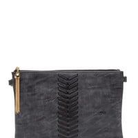 Take Your Place Exposed Stitch Clutch