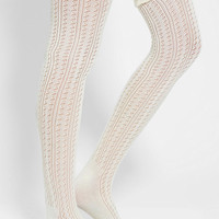 Ruffled Crochet Over-The-Knee Sock