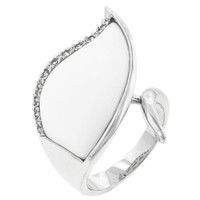 Snow Cap Cocktail Ring, size : 08