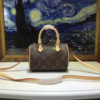 Louis Vuitton Lv Monogram Canvas Nano Speedy Handbag Shoulder Bag #13971 - Best Deal Online