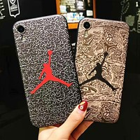 NIKE Jordan Fashion New Letter Women Men Phone Case Protective Cover