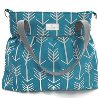Turquoise Arrow Diaper Bag  - Diaper Bags - Bags and Purses - Baby Bag FREE SHIPPING