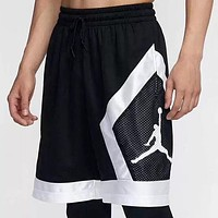 Jordan Summer New Fashion People Print Shorts Black