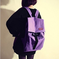 Korean Stylish Casual Canvas Backpack Simple Design Travel Bags [8384626119]