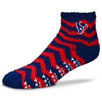 Women's Houston Texans Chevron Sleep Soft Ankle Socks
