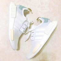 Adidas NMD Trending Fashion Casual Sports Shoes white Mint green-2