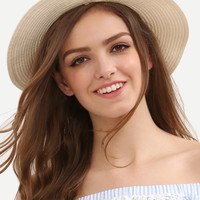 Bow Decorated Beach Hat [6240904644]
