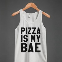 PIZZA IS MY BAE TANK TOP (IDE180453)