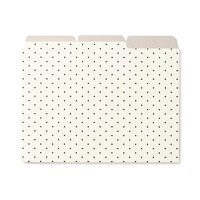 kate spade new york Bikini Dots File Folders