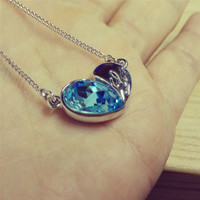 YAN & LEI Swarovski Element Necklace Loving Heart