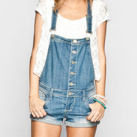 Almost Famous Womens Denim Short-Alls Light Blast  In Sizes