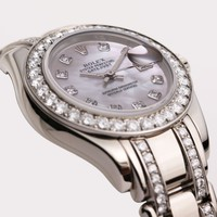 Factory Rolex Lady DateJust PearlMaster 80299 18K White Gold
